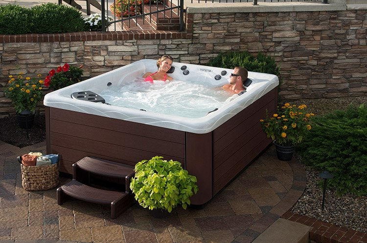 luxury person whirlpool tub rectangular detail product crown indoor warehouse spa portable personal hot