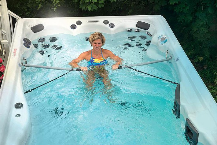 Cross Training Workouts in a Swim Spa or Pool at Home